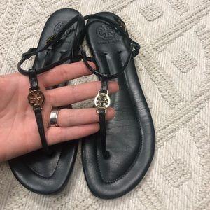 Tory Burch Sandals Black t-strap